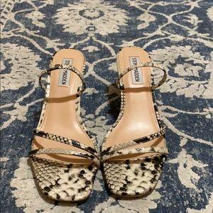 Beautiful python/snakeskin print sandal.